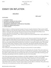 outline of essay inflation essay on inflation inflation prices  essay on inflation inflation prices