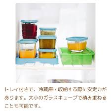 food container stylish baby glass food stocker tupper baby food preservation sealing green s plastic depression baby food glass cube l 120 ml green sprouts