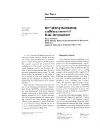the meaning and measurement of moral development pdf  the meaning and measurement of moral development pdf available
