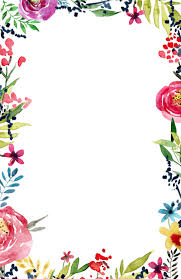Floral Borders For Word Download Flowers Borders Free Png Transparent Image And Clipart