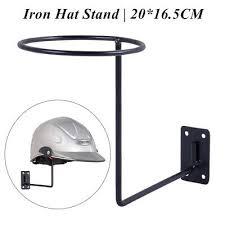 black metal hat rack wig holder storage