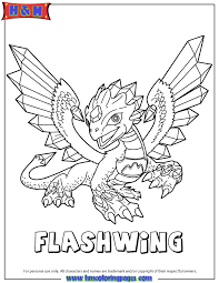 Skylanders Giants Flashwing Coloring Page H M Coloring Pages