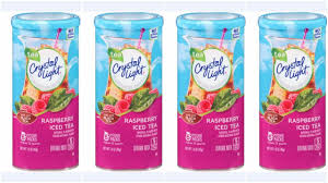 Does Crystal Light Raspberry Iced Tea Have Caffeine Crystal Light Raspberry Iced Tea 12 Quart 1 6 Ounce Canister Pack Of 4