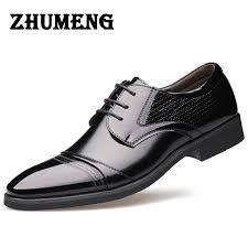 2017 luxury mens dress shoes genuine leather italian brown cap toe basic flats wedding designer shoes