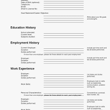 Sweet Ideas Filling Out A Resume 26 Sample Of Fill Up Form Resume