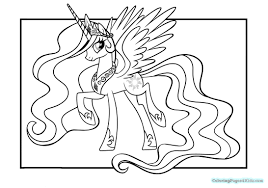 my little pony princess celestia coloring pages 103 and