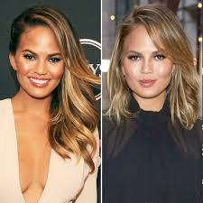 Chrissy teigen is always serving up some seriously good beauty inspiration courtesy of the industry's top stylists. Lob Alert Chrissy Teigen Gets A New Haircut Chrissy Teigen Hair Chrissy Teigen Hair Color Long Bob Haircuts