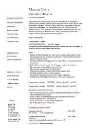 Executive Director Resume Management Example Sample Job