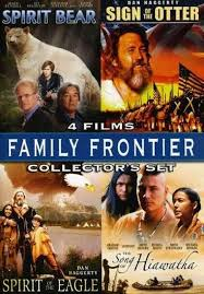 family frontier dvd spirit bear eagle sign otter song  family frontier dvd spirit bear eagle sign otter song hiawatha 4 movies 96009676094