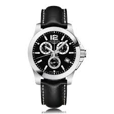 mens longines watches the watch gallery longines conquest classic chronograph stainless steel quartz mens watch l36604563