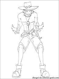 One Piece Portgas D Ace Da Stampare Disegni Da Colorare Gratis