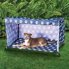 Indoor/Outdoor Dog Bed Canopy Cover and Shade Frame | Dog Stuff ...