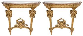 french console tables. Pair Of French Carved Giltwood Console Tables,19th Century Tables