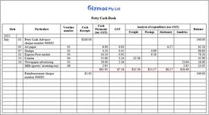 Petty Cash Log Book Petty Cash Book