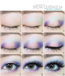 2016 disney frozen eye makeup tutorial diy eyeshadow snow princess 2016
