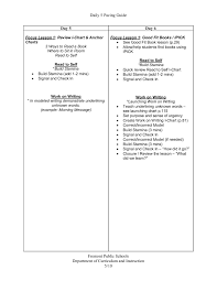 Daily 5 Pacing Guide K 5 Literacy Connections Pages 1 12