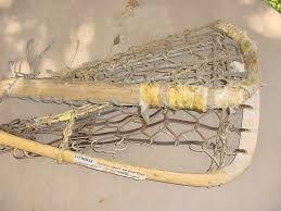 old wood wooden lacrosse sticks 47in long asis