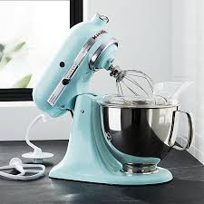 ice blue kitchenaid mixer. KitchenAid KSM150PSIC Artisan Ice Blue Stand Mixer + Reviews | Crate And Barrel Kitchenaid E