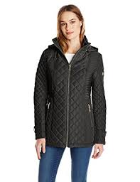 Calvin Klein Women's Quilted Jacket With Hood at Amazon Women's ... & Calvin Klein Women's Quilted Jacket with Hood, Black, X-Small Adamdwight.com