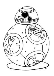 Coloriage Bb 8 Star Wars 7 Reveil De La Force Robot Bb8