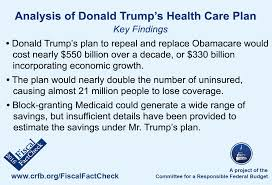 Donald Trump Health Care Quote