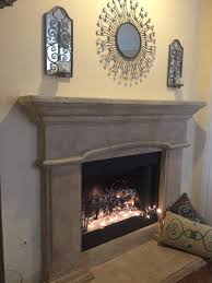 maison blanche la chaux lime paint transformation of my old white cast stone fireplace