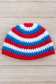 Infant Crochet Hat Pattern Awesome Patriotic Crochet Hat Pattern For A Boy