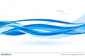 Abstract Blue Waves Data Stream Concept Vector Illustration