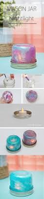 DIY mason jar night light craft