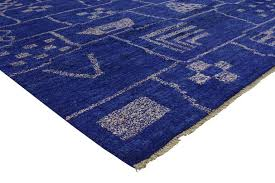 saturated in an extraordinary palette of cobalt blue this moroccan style rug showcases true simplistic