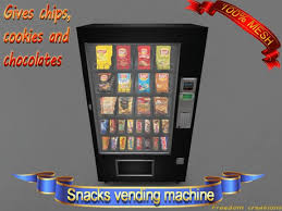 Vending Machine Cookies Adorable Second Life Marketplace Mesh Snacks Vending Machine V48Freedom