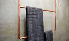 hanging towel. Finished Copper Hanging Towel Rack