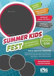 Summer Camp Flyer Template Adorable Summer Camp Flyer Ideas Engneeuforicco