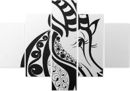Znamení Zvěrokruhu Kozoroh Tetování Design