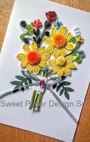Paper Quilling Flower Bokeh Paper Quillied Beautiful Flower Bouquet By