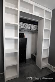 Shelves Around Window These Shelves Would Be Cool Around A Closet Door To Extend The