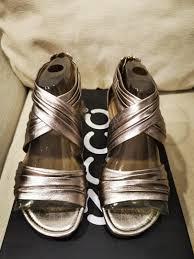 Ecco Bouillon Sandal Light Gold Ecco Bouillon Sandals In Light Gold Or Claire