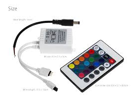 weigu lighting dc 12v 24 key rgbw remote controller for led strip