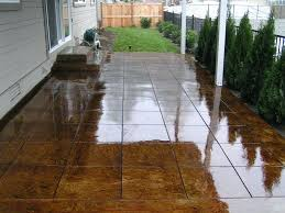 stained concrete patio before and after. Acid Wash Concrete Patio Stained Gallery Master Stain Old Diy . Before And After