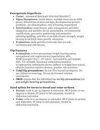 best cheat sheets images occupational therapy  nbcot ue hip review page 10