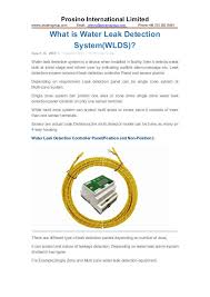 Water Is Water Leak Detection System Wlds