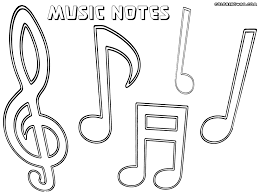 Free Printable Music Notes Coloring Pages Musical Notes Coloring