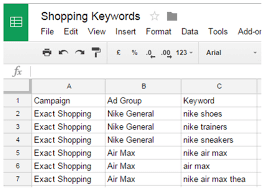 Shopping Spreadsheet Keywords Are Back For Google Shopping Campaigns Search
