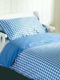 blue gingham bedding set saplings