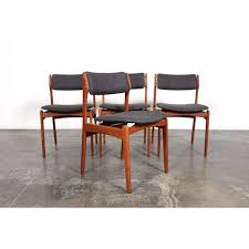 mid century dining chairs new eric buch o d mobler mid century modern teak dining chairs set