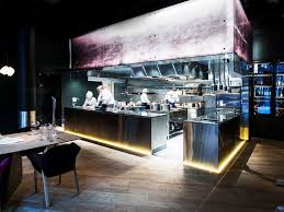 Restaurant Open Kitchen Design Trendy Cozy 2508
