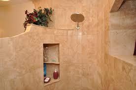 angle stauettes inside a tile shower