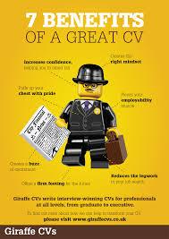seven benefits of a great cv supercharge your job hunt cv writing giraffe cv a4 infographic 1