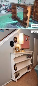 repurpose old furniture. Dresser Hutch Turned Sofa Table Or Shelf Repurpose Old Furniture
