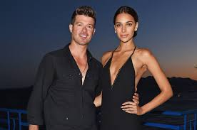 robin thicke.  Thicke Robin Thicke And Girlfriend April Love Geary Welcome Baby Girl To I